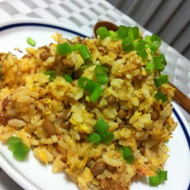 とろっ豆とキムチのパラパラ炒飯