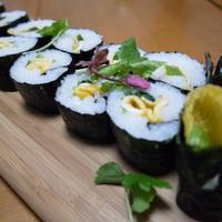 薄焼き卵と三つ葉DE桜ふうみラップ寿司☆