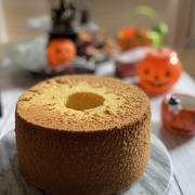 ハロウインに・・かぼちゃのシフォンケーキ♡