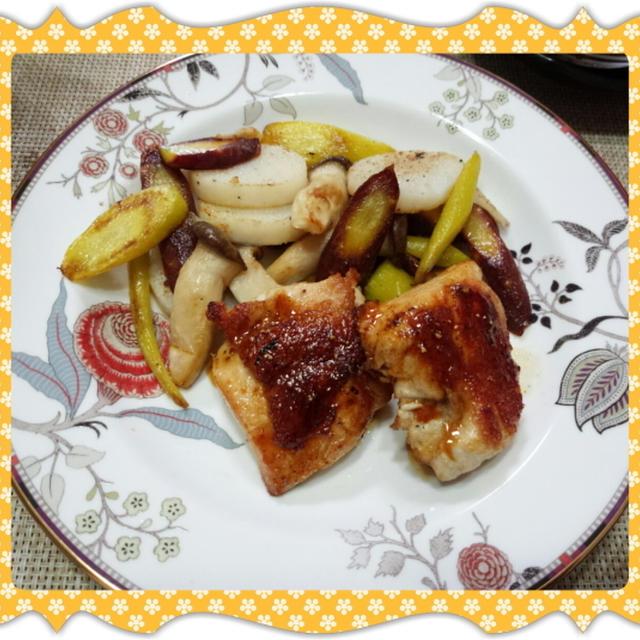 チキンソテーと鎌倉野菜のグリル
