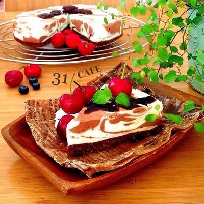 【チーズケーキまとめ2】♡簡単♡オーブン不要レア&混ぜるだけベイクド♡