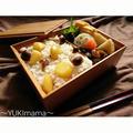 お弁当に〜栗ときのこのバター醤油風味混ぜご飯(常備菜)