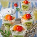 混ぜて冷やすだけ!簡単10分フルーツ牛乳かんてん♪改良版