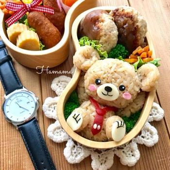 〈キャラ弁・モニター〉ロバー様より腕時計♡モカの作り方♡ekoちゃんから素敵便