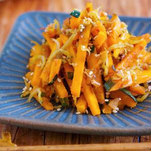 お弁当の彩りにもおすすめ!かぼちゃきんぴらの作り方