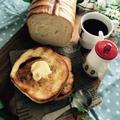 メープルとミルクのラウンドパンでメープルトースト。と、ドラえもん熱唱。