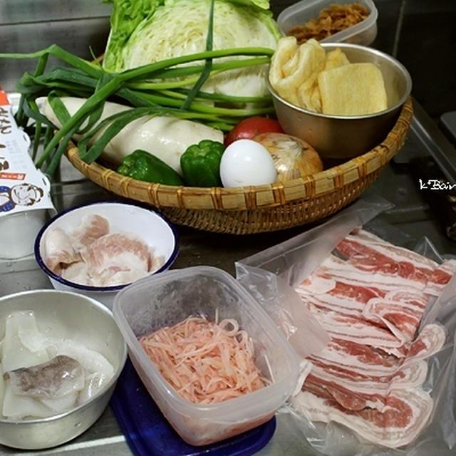 イカとキャベツの、牡蠣油炒め