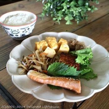主婦めし*おうちランチ~鮭弁のワンプレート