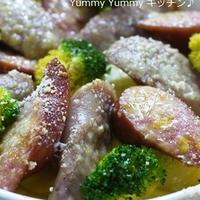 ダブル贅沢ソーセージ☆ポテトとブロッコリーの豆乳キッシュ♪