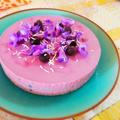 ブルーベリーの濃い レアチーズケーキ