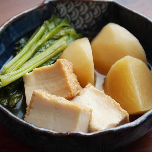 【作り置きレシピ】かぶと厚揚げの煮物