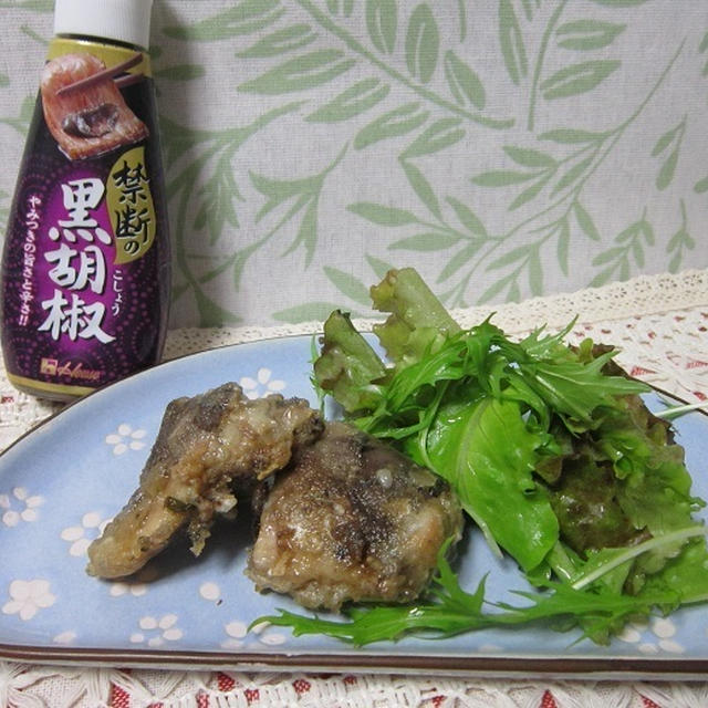 サバ缶の黒胡椒たつた焼