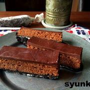【バレンタインに!工程写真付】おすすめです!!オーブン不要!レンジで*3層生チョコケーキ