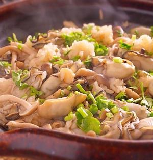 土鍋でふっくら牡蠣ご飯