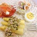 ホワイトアスパラの前菜
