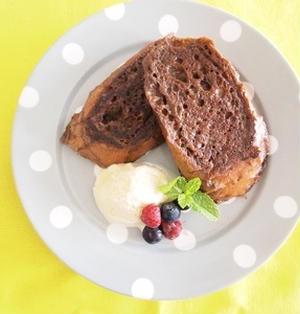チョコシロップで作るフレンチトースト