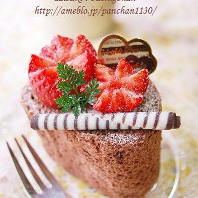 いちごとチョコのロールケーキ