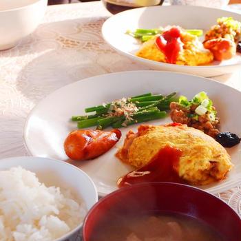 タイで作った朝ごはん。