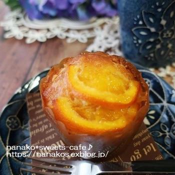 オレンジのマフィン * マーマレードラベル