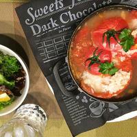 ヤマキ割烹白だし+丸ごとトマトにご飯を詰めて簡単洋風雑炊~♪♪
