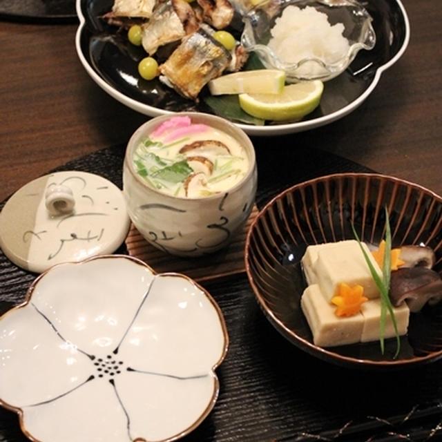 もうすぐ秋も終わり…秋の肴セット~松茸入り茶碗蒸し~