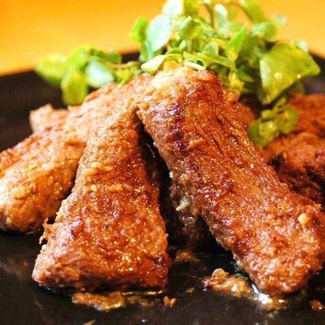 漬けて焼くだけ!ホースラディッシュ・ステーキ。