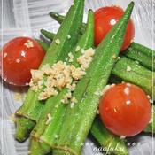 オクラとプチトマトのペペロンチーノ