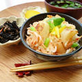柚子香る☆焼き蕪と桜えびの炊き込みご飯