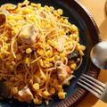 【簡単パスタレシピ】鮭のガーリック・バターコーンスパゲッティの作り方