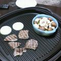 一日遅れのイイニクの日☆焼肉とアヒージョ by aipoooさん