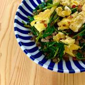 空芯菜と卵の花椒香るナンプラー炒め