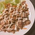 豚こまで簡単 豚と玉ねぎの甘辛炒め マヨネーズとブラックペッパーが決め手