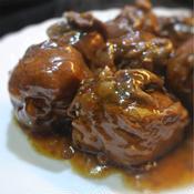 牛薄切り肉巻き豆腐の煮込み
