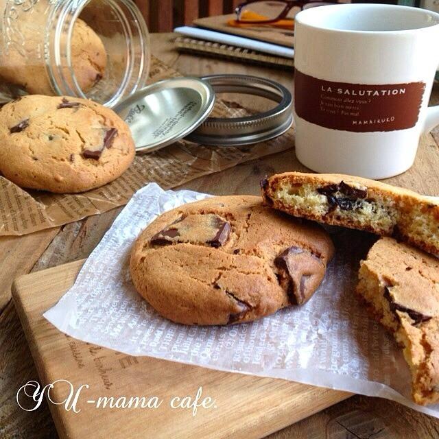 さくさく食感のチョコチャンククッキー