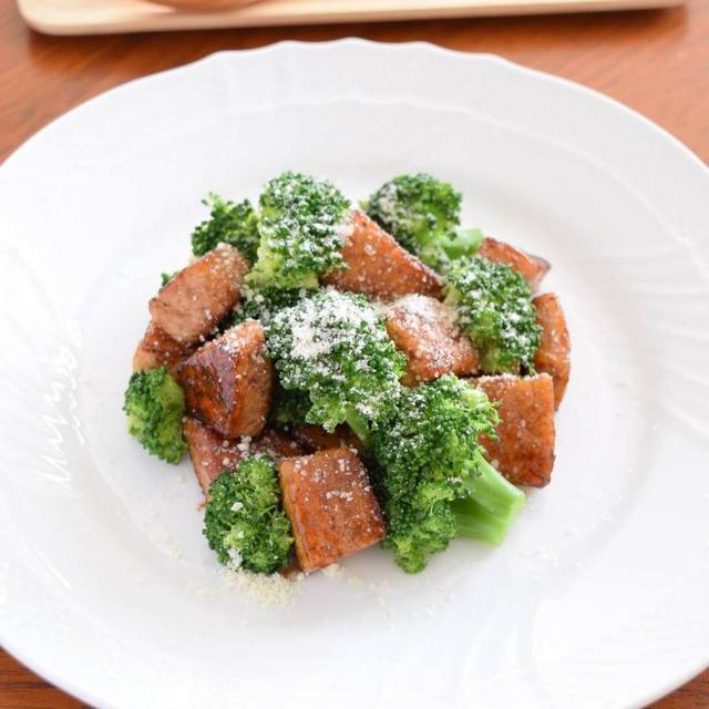 カジキのバルサミコ焼き ブロッコリー&パルメザンチーズ和え