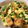 コスパ・旨さ◎。スイチリマヨエッグの厚揚げ小葱チャンプル(糖質4.9g) by ねこやましゅんさん