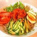 ダイエットに!野菜たっぷりしらたき冷麺