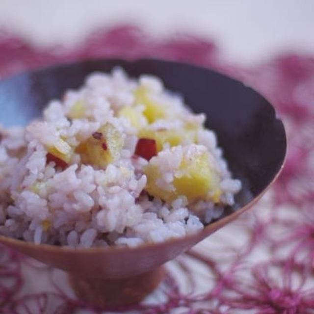 ほっこりもちもち♡さつま芋の雑穀ごはん。漢字、ちゃんと書けますか?