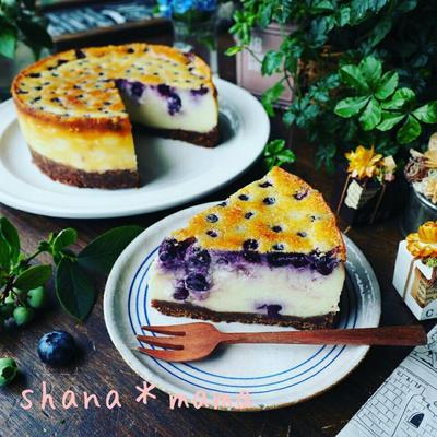 大好きなブルーベリーレシピ色々~❤と混ぜたら焼くだけ♪超絶濃厚ベイクドブルーベリーチーズケーキ♪