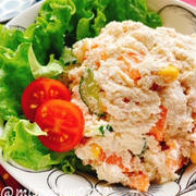 おからパウダーでツナ入りおからサラダ(動画レシピ)/Soy pulp and Tuna Salad.