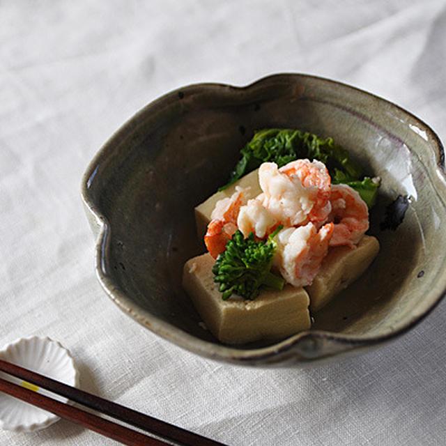 高野豆腐とえびのたいたん