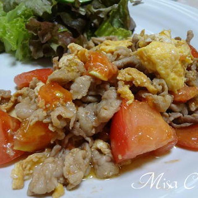 豚肉とトマトと玉子炒め