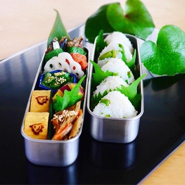 【8月だよ!しっかり食べて 地味弁で乗り切ろうの相方弁当】& プラム+レモンシロップ