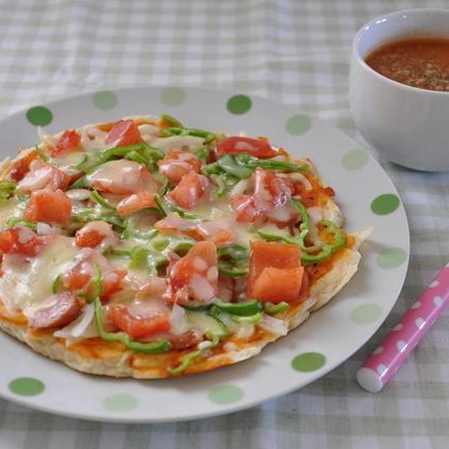今日の朝ごはん~捏ねない!発酵なし!簡単ピザ~