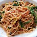 ナポリタンスパゲティー と 発芽玄米土鍋で1合炊きに挑戦。