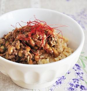 中華風☆スタミナ 肉野菜納豆