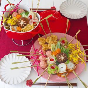 ■ロリポップ ちゃんこ鍋<br><br>具材をクルクル巻いて、1口で食べやすいペロペロキャンディ風に...
