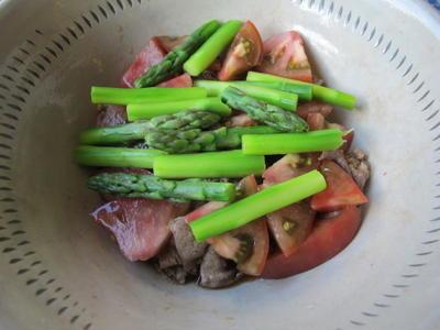 牛肉の重ねあえ  7・25・2012