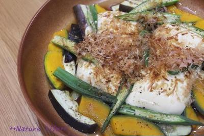 豆腐と夏野菜のヘルシーサラダ