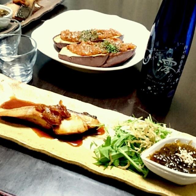 昨日の夕ごはん☆茄子田楽の味噌タレ【レシピ付】